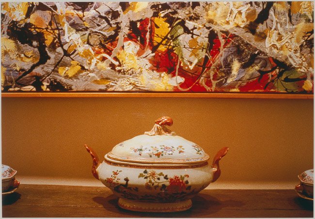 Pollock and Tureen, Arranged by Mr and Mrs Burton Tremaine, Connecticut (1984) by Louise Lawler