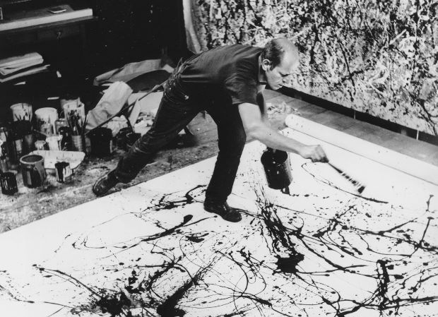 """How many 'c's in 'Pollock', again?"" The artist at work, 1950"