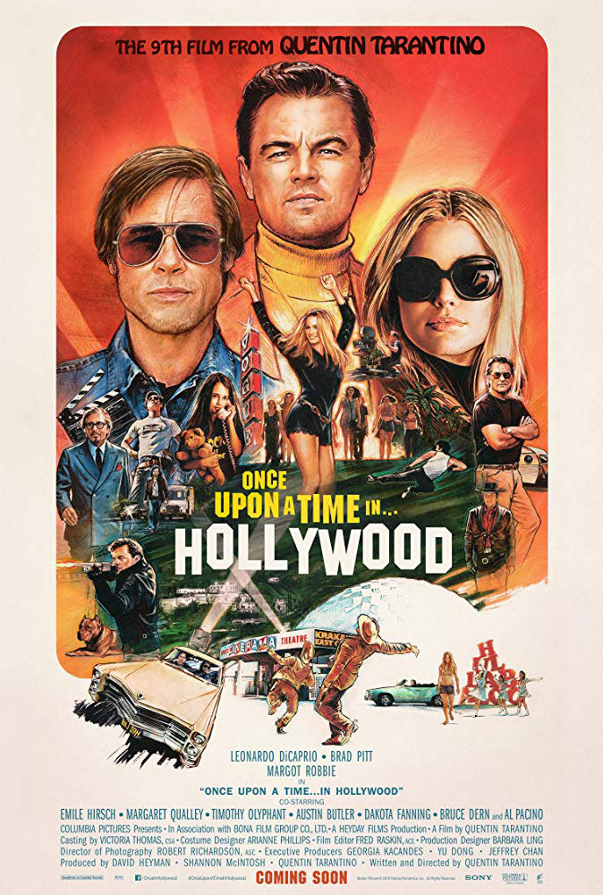 The poster for Once Upon a Time In ... Hollywood, featuring the Cinerama Dome
