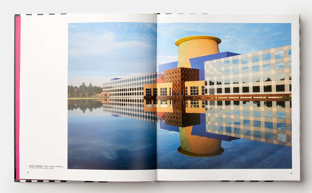 Pages from our new book featuring the Team Disney Building, in Orlando, Florida, (1990) by Arata Isozaki