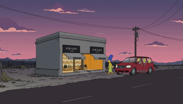 Prada Marfa in The Simpsons