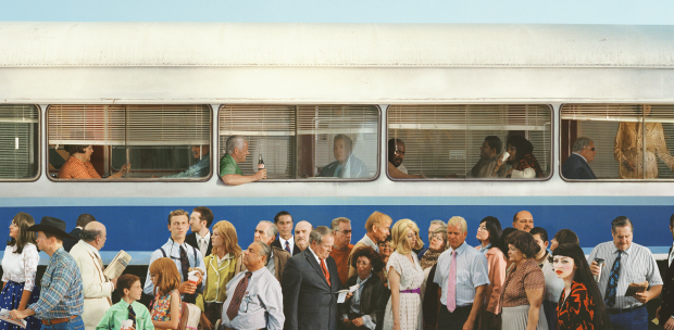 Alex Prager Simi Valley, 2014 archival pigment print 47 x 96 inches 119.4 x 243.8 cm Edition of 6 Courtesy the artist and Lehmann Maupin, New York and Hong Kong