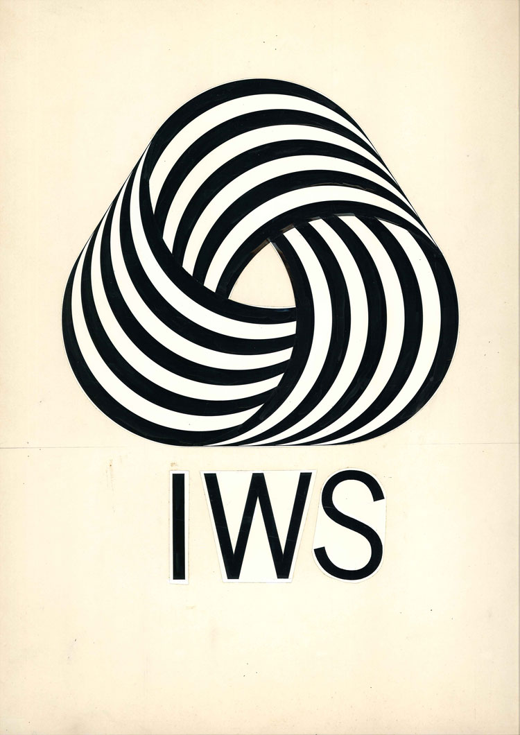 Franco Grignani, Woolmark logo, 1963. Image courtesy of the Estorick Collection and Archivo Manuela Grignani Sitroli