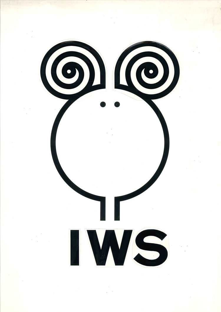 A different, sheep-shaped submission for the Woolmark logo, 1963, by Franco Grignani. Image courtesy of the Estorick Collection and Archivo Manuela Grignani Sitroli