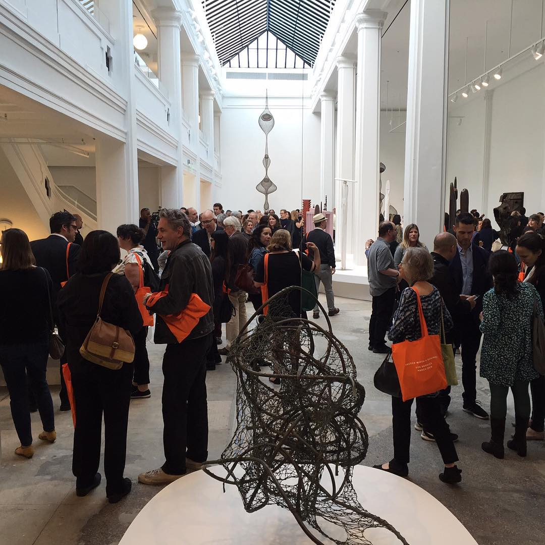 Press opening at Hauser Wirth & Schimmel. Image courtesy of the gallery's Instagram