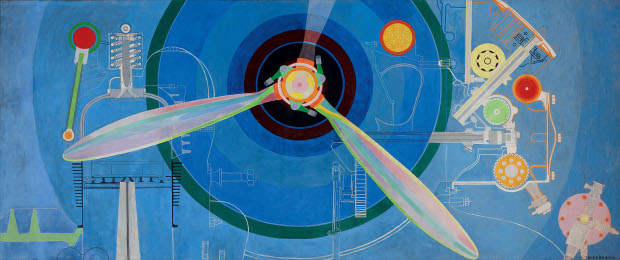 Propeller (Air Pavilion) (1937) by Sonia Delaunay. Skissernas Museum, Lund, Sweden