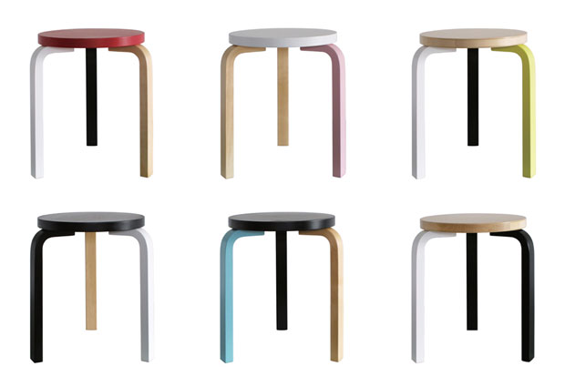alvar aalto s artek stool 60 gets a makeover design agenda phaidon