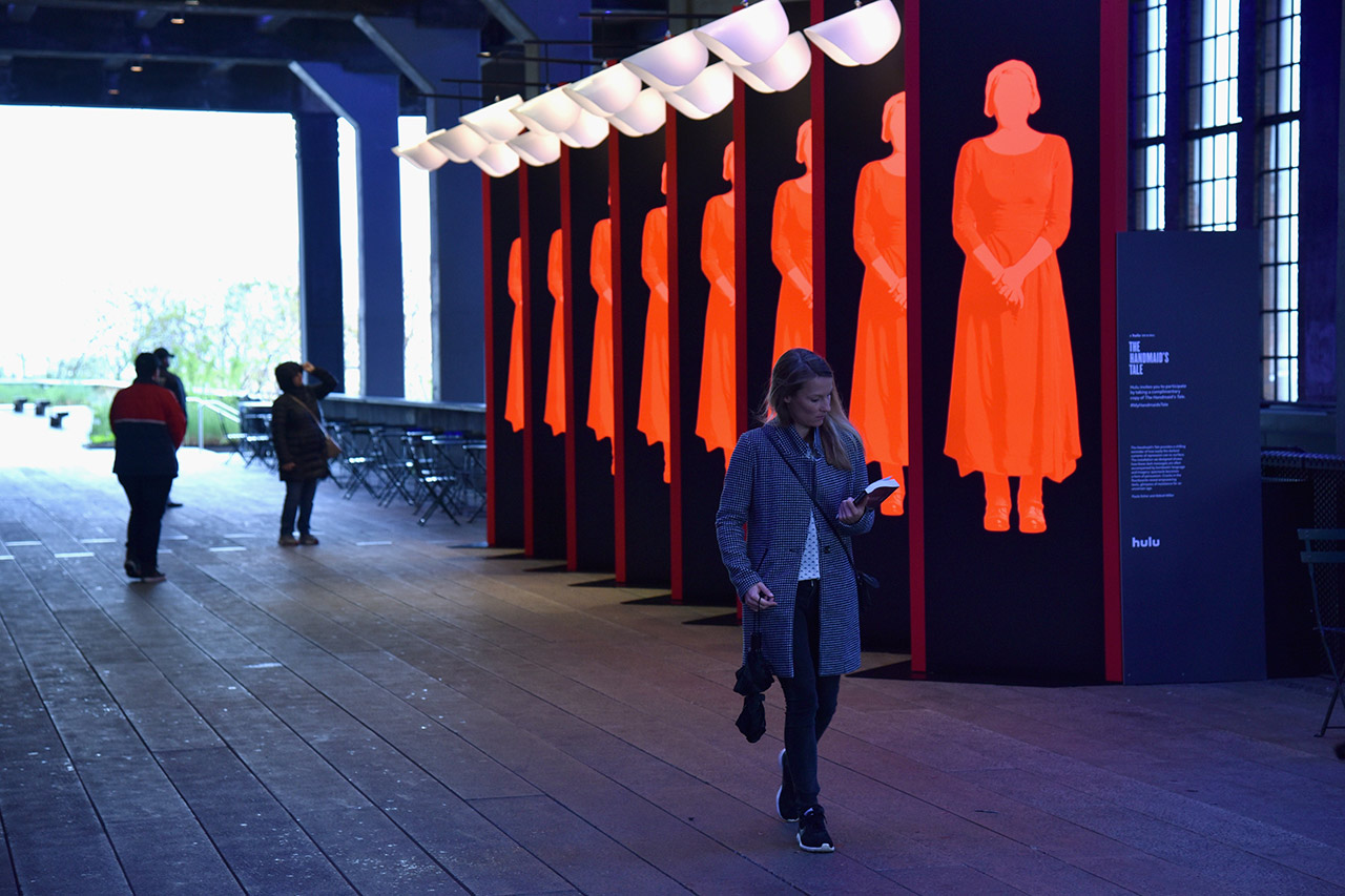 The Handmaid's Tale installation on the High Line. All images courtesy of Pentagram