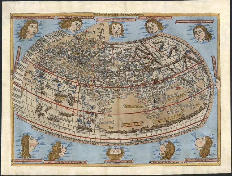 World Map, 1482, by Claudius Ptolemy. From Map