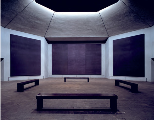 The Rothko Chapel, as reproduced in Chromaphilia