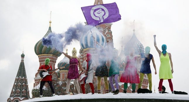 Pussy Riot, Red Square, 20 January 2012