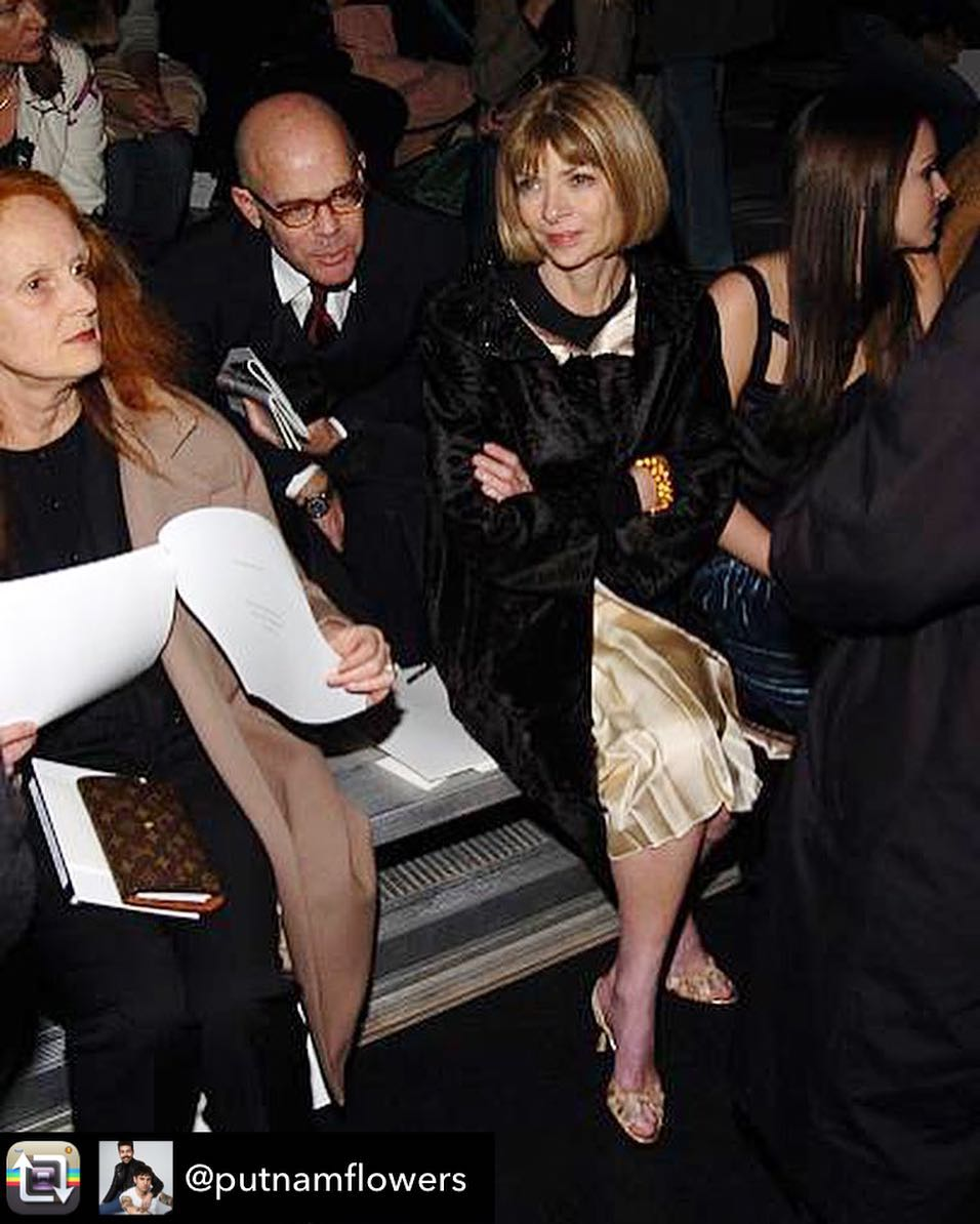 William Norwich with Grace Coddington and Anna Wintour, as posted by Putnam & Putnam on Instagram (and reposted by William Norwich)