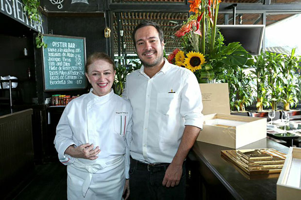 Jose Dávila and Mexico The Cookbook chef and author Margarita Carrillo Arrant