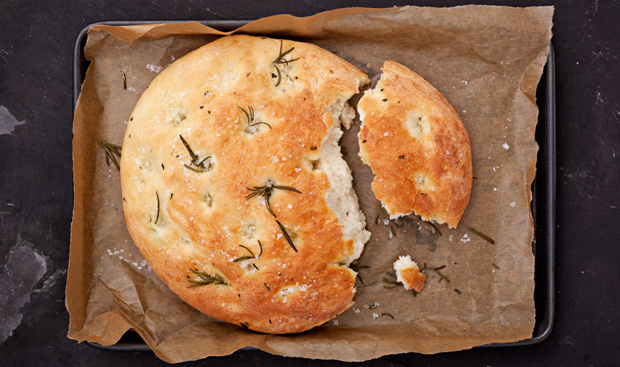 Rosemary focaccia, a recipe from Vegetables from an Italian Garden
