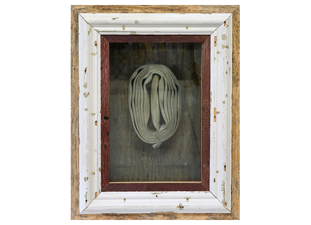 Theaster Gates, In the Event of Race Riot V (2011) Reclaimed wood, metal, fire hoses