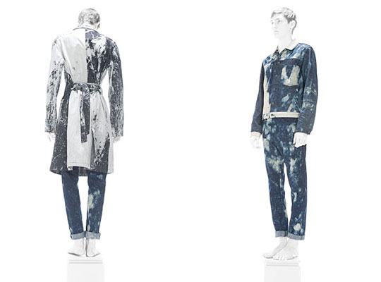 Raf Simon's 2010 collection, for which Ruby supplied bleached denim