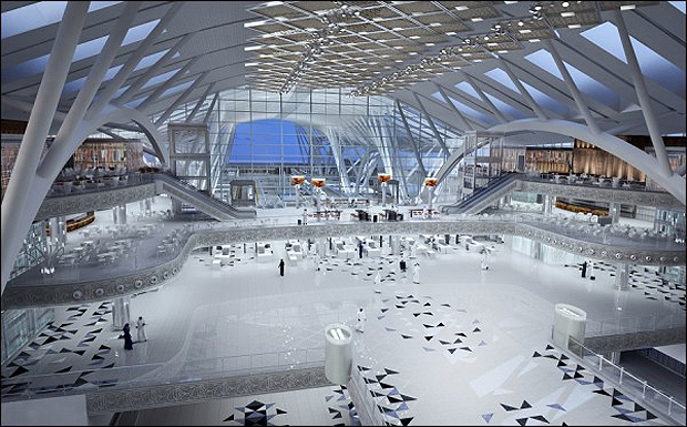 The railway terminal at Jeddah's new-look airport