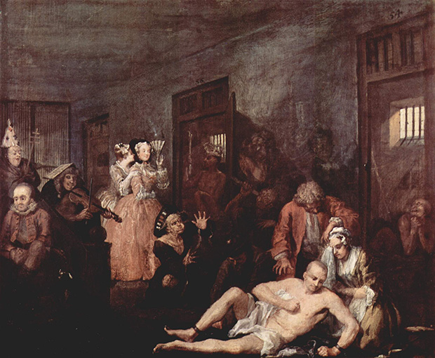 A Rake's Progress: 8 The Mad House (1733) by William Hogarth