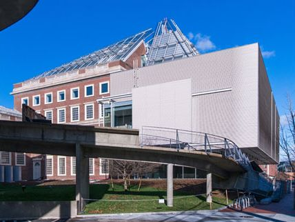 An exterior view of Renzo Piano's renovation of Harvard Art Museum
