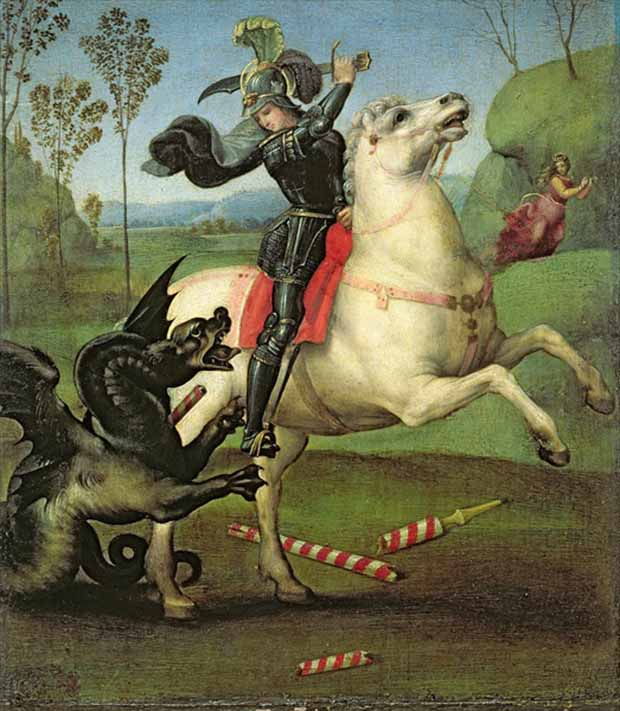 Saint George (c.1504-5) by Raphael