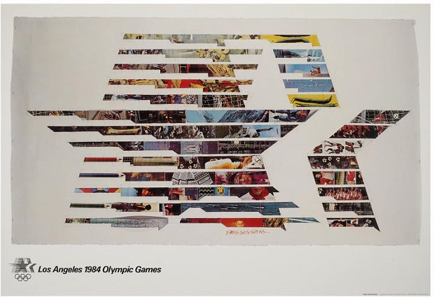 Robert Rauschenberg's poster for the 1984 Los Angeles Olympic Games