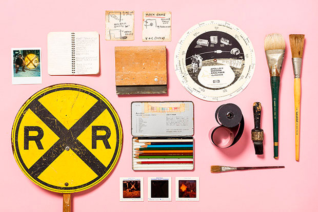 Materials from Robert Rauschenberg's home and studio. Courtesy Robert Rauschenberg Foundation, New York. Photography: Nicholas Calcott. Image courtesy of Frieze New York
