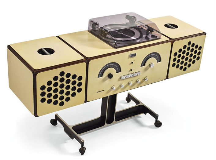 Pier Giacomo and Achille Castiglioni, Brionvega Radiophonograph, model no. RR 126, 1965. From the collection of David Bowie. Estimate £800–1,200. Image courtesy of David Bowie