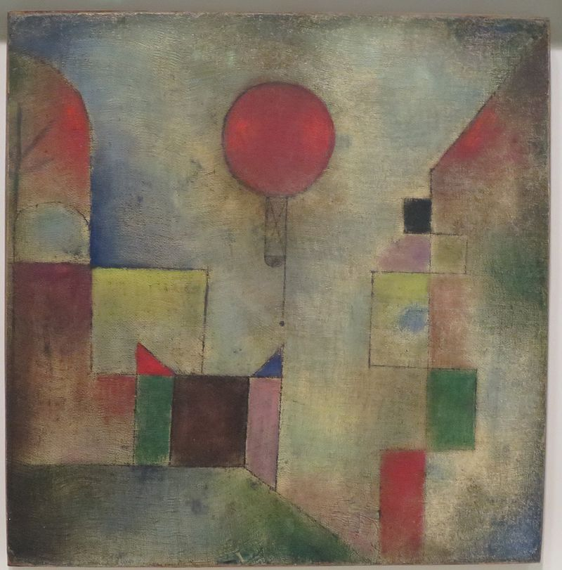 Red Balloon (1922) by Paul Klee. Image: public domain