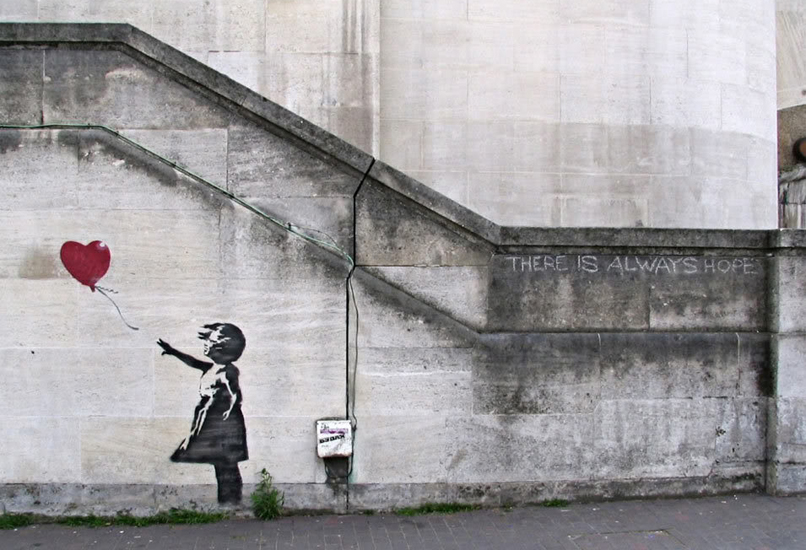 Banksy, Girl and red balloon