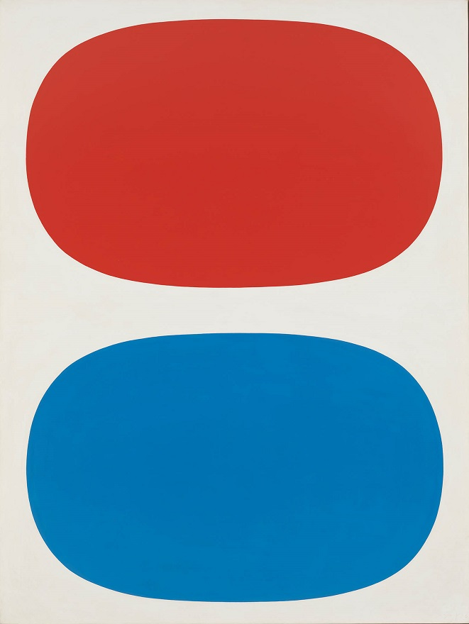Ellsworth Kelly (1923-2015) Red, White and Blue, 1961 Oil on linen 88 1/4 x 66 9/16 in. (224.2 x 169.1 cm) Whitney Museum of American Art, New York Gift of Betty Parsons 70.1582 © Ellsworth Kelly