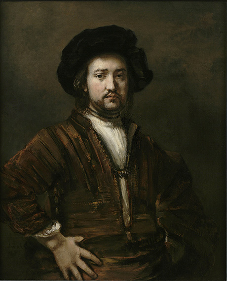 Portrait of a Man with Arms Akimbo (1658) by Rembrandt