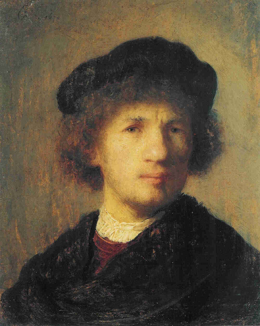 Self-Portrait (1630) by Rembrandt van Rijn, one of the works stolen in the 2000 robbery of Sweden's National Museum