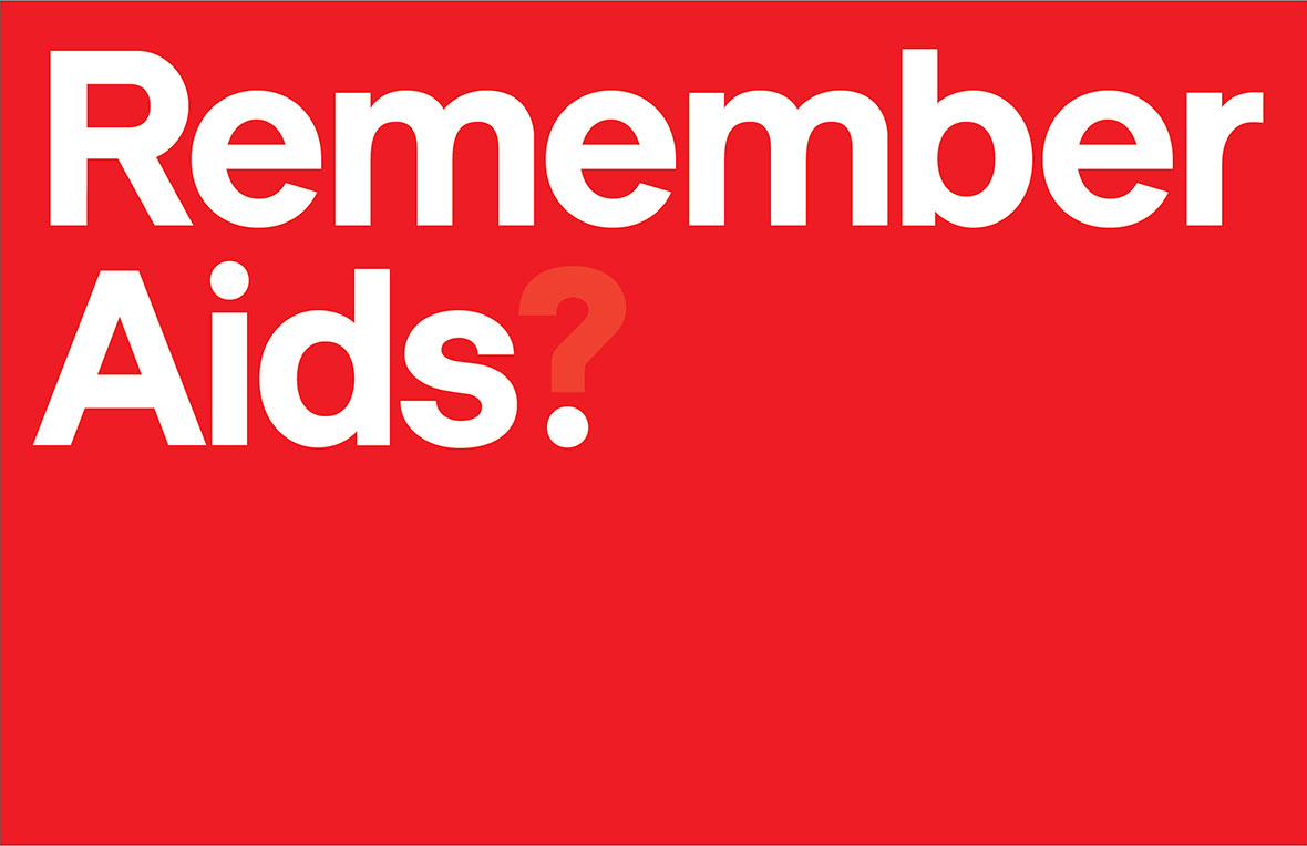 Kobe Benezri's initial poster idea for the NYC AIDS Memorial