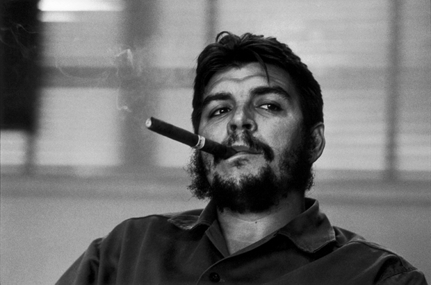 Che Guevara, during an exclusive interview, 1963, Havana, Cuba, by René Burri,