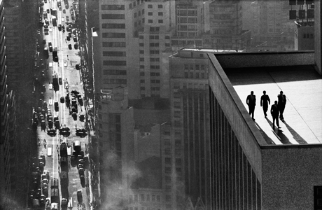 René Burri - Men On A Rooftop