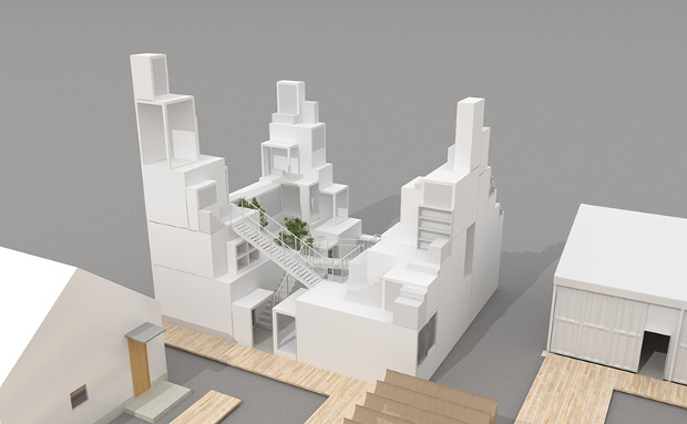 Rent Space Tower by Sou Fujimoto. Image courtesy of house-vision.jp
