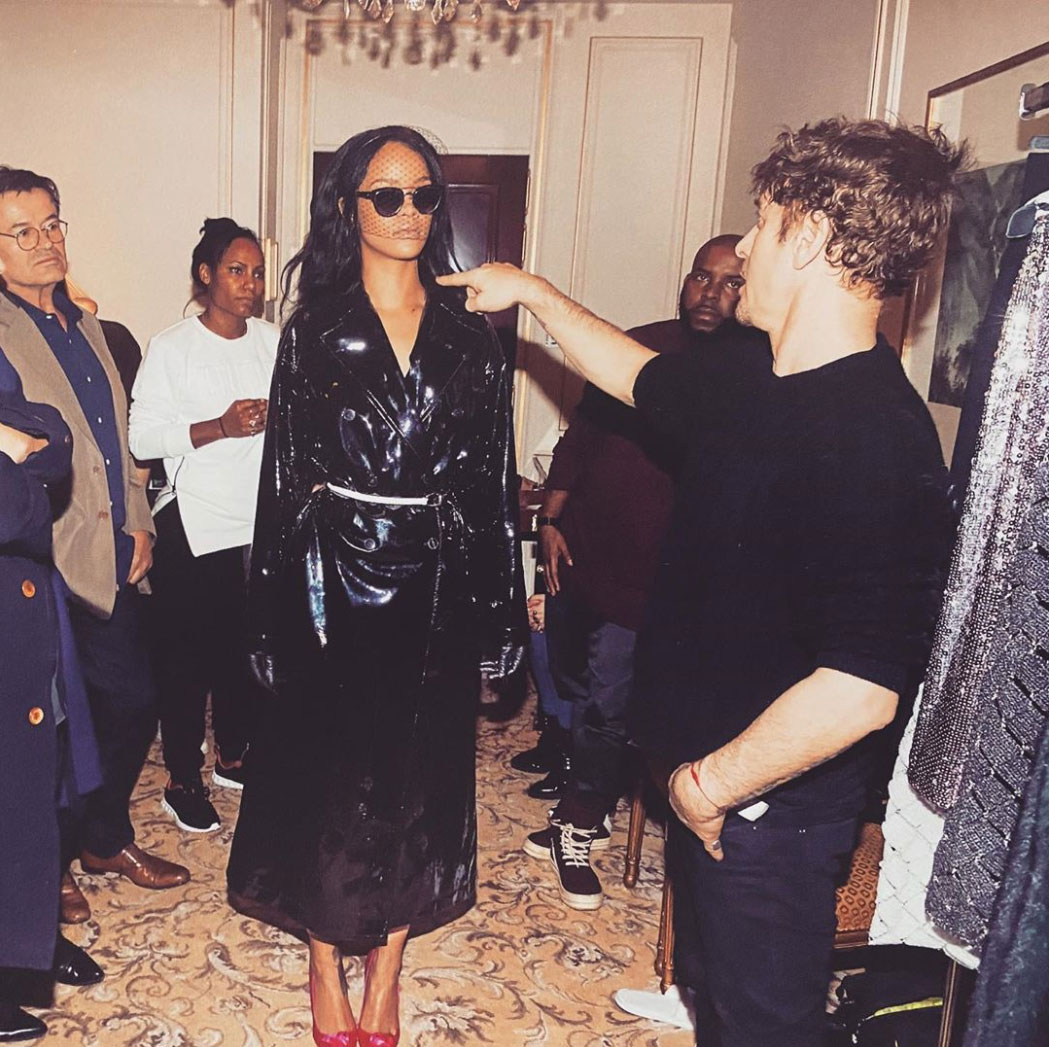 Steven Klein on the set with Rihanna in Paris from our new Rihanna book. Thanks for Steven Klein's studio for sharing this on Instagram (@stevenkleinstudio)