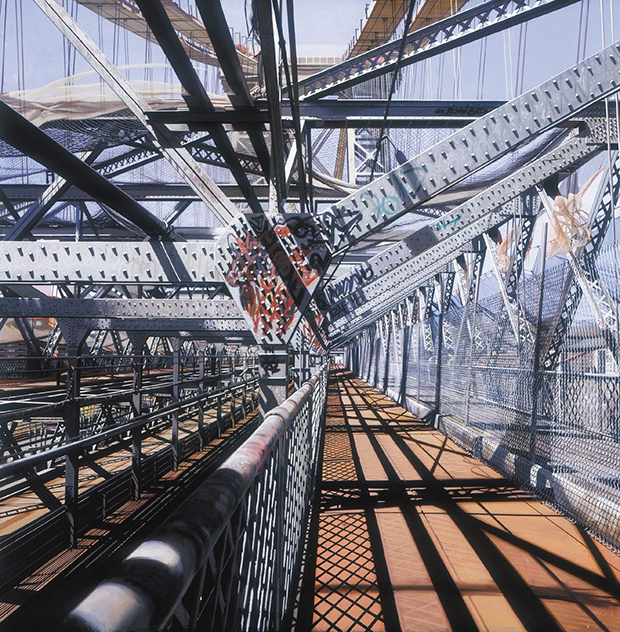 Williamsburg Bridge (1995) by Richard Estes