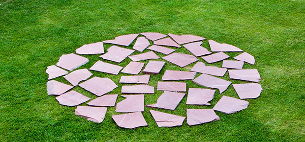 Red Slate Circle (1978) by Richard Long at Heart