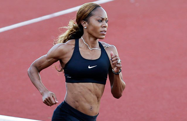 American runner Sanya Richards-Ross, the 400m Olympic champion and a Nike athlete