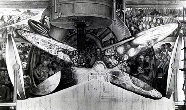 How diego rivera tried to paint the future art agenda for Diego rivera mural rockefeller center