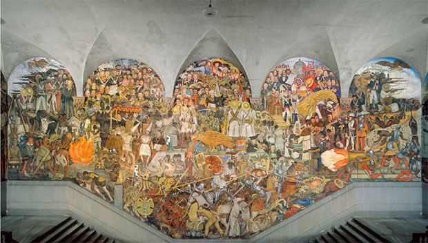 A movement in a moment the mexican renaissance art for Diego rivera mural 1929