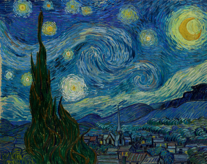 Van Gogh, Starry Night (1889)