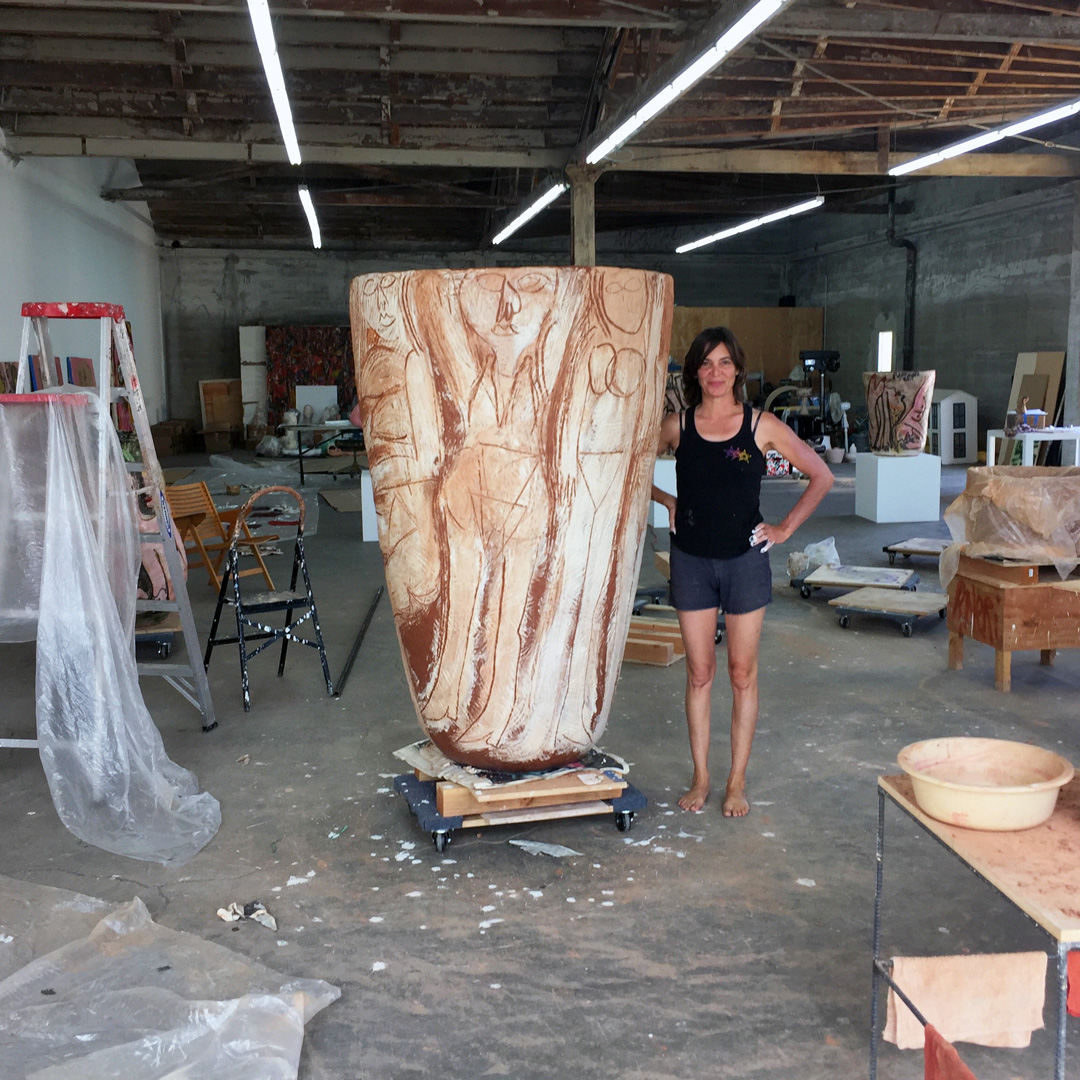 Ruby Neri in her studio. All images courtesy of the artist and David Kordansky Gallery, Los Angeles