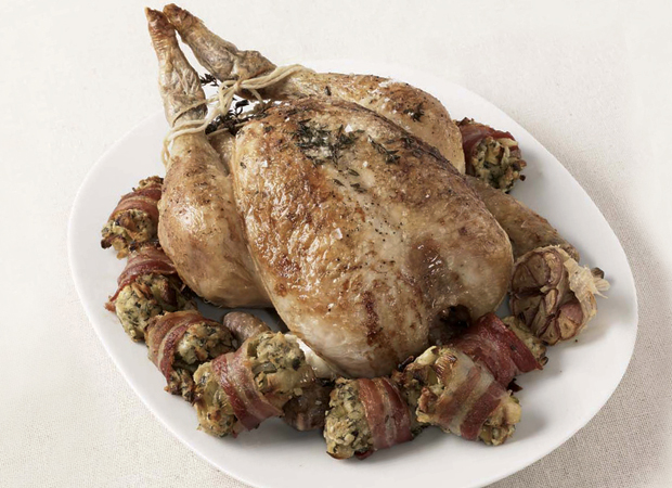 Roast Chicken, recipe can be adapted to roast turkey (see notes)