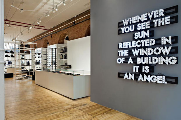 Robert Montgomery's Dior Homme installation, New York (2012)