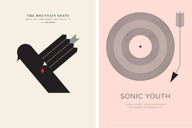 The Mountain Goats and Sonic Youth both by Jason Munn