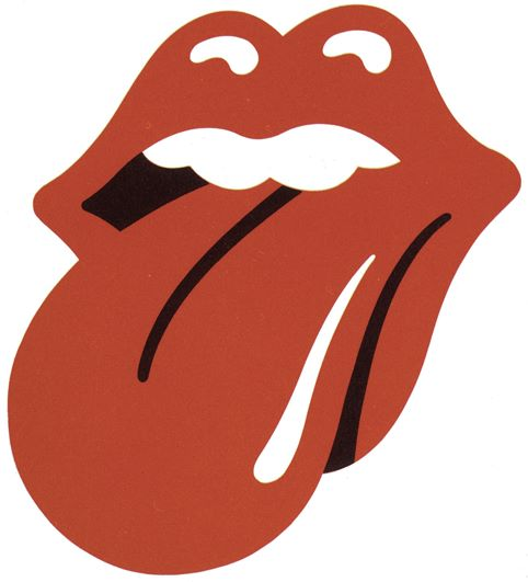 The Rolling Stones logo, 1971, by John Pasche