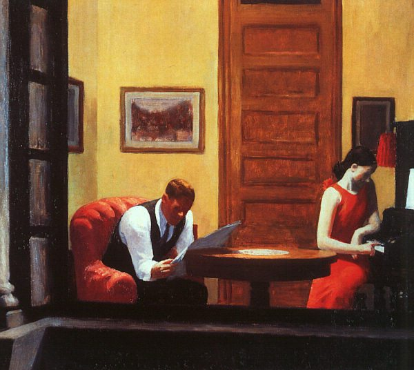 Room in New York (1932) by Edward Hopper