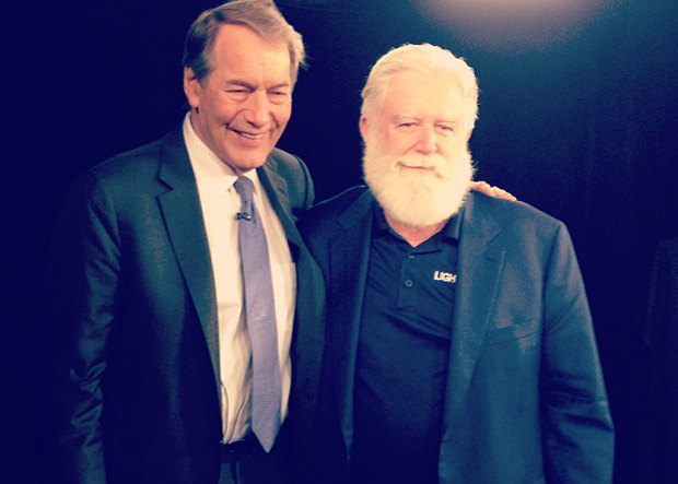 Rose (left) and Turrell, courtesy of Charlie Rose's Instagram account